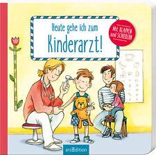 Heute gehe ich zum Kinderarzt Bilderbuch Klappen und Schieber Ab 2 Jahre + BONUS