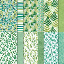 NEW Stampin Up! FOREVER GREENERY DSP 12 sheets 6 x 6 Designer Series Paper