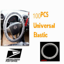 Universal Clear Plastic Disposable Steering Wheel Cover Fit 38CM Diameter #