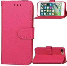 """Case iPhone 7 Plus 5.5"""" Pink Leather Flip Shock Scratch Proof Stand Co"""