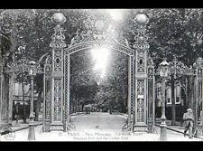PARIS VIII° Parc MONCEAU / PORTAIL-GRILLE en fer forgé animée en 1924