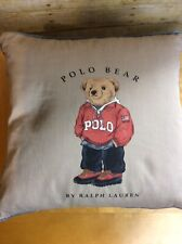 Vintage Polo Ralph Lauren Polo Bear Goose Down Decorative Throw Feather Pillow