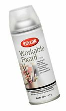 Krylon K01306 Workable Fixatif Spray Clear, 11-Ounce Aerosol 11 oz