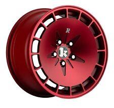 16X8 +15 Klutch KM16 5x114.3 Red Wheel Fits Mazda 3 6 Kia Soul Toyota Rav4