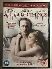 RYAN GOSLING ALL GOOD THINGS ~ 2010 True Life Acción / ASESINATO SUSPENSE GB DVD