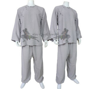 Old Style Kung fu Tai Chi Suit Martial arts Wing Chun Uniform 25 Colors Linen