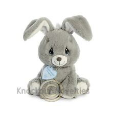"Precious Moments Floppy Bunny Grey 8.5"" Stuffed Animal Toy Doll Play Plush"
