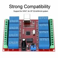 12V 8-Channel USB Control Switch Computer Free Driver Relay Module PCB Board GH