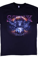 Styx Band Crystal Ball Graphic Print T-shirt Size M North American Tour Band Tee