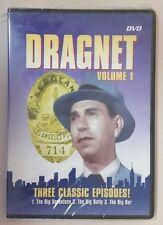Dragnet Volume 1 New DVD UPC# 872322000538 Jack Webb The Big Seventeen Betty Bag