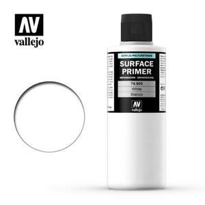 Vallejo Surface Primer 600 - White (74.600) 200ml
