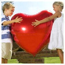75cm Globos De Papel Aluminio San valentín Brillante Rojo Forma De Corazón