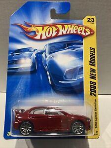 Hot Wheels 2008 Lancer Evolution 2008 New Models [ RED ] SEALED UNOPENED XHTF