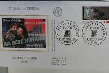 ENVELOPPE PREMIER JOUR SOIE 1995 SIECLE DE CINEMA