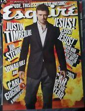 ESQUIRE Magazine October 2011 Justin  Timberlak Jon Stewart Jonah Hill