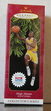 Magic Johnson Hoop Stars Hallmark Keepsake Ornament w/ Exclusive Fleer BB Card