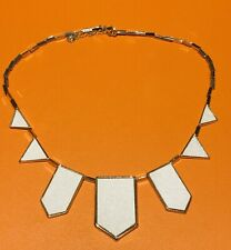 House of Harlow White Geometric Necklace