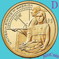 2014-D NATIVE AMERICAN SACAGAWEA GOLDEN DOLLAR UNCIRCULATED FROM U.S. MINT ROLL