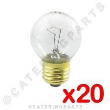 20 x HIGH TEMPERATURE ROUND BULB E27 OVEN LAMPS 230V 40W ES SCREW IN 300°C LA40