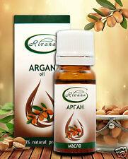 Argan 100 % Pure Oil Vitamin A/E Revitalizes Damaged Hair 10 ml Rivana
