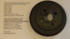 Toyota Rear Brake Drum 42431-12060 Corolla, Carina, Corona, Celica, Cressida