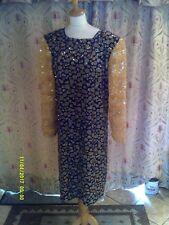Drag Queen Black/Gold glitter SHORT dress 20/22