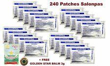 20 packs x 12 patches (240) Salonpas Plasters Pain Relief Muscle Aches  + BONUS