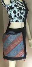 Womens Ethnic Indian Sari Cloth Boho Crossbody Messenger Shoulder Bag