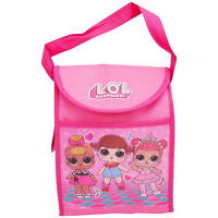 Girls LOL Surprise! Non-Woven Insulated Lunch Bag Pink