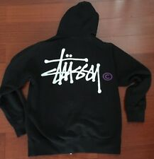 Vtg STUSSY Hoodie Jacket Sweatshirt Sz S/M USA Sweater Supreme 90s Noah Jebbia