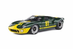 1:18 Ford GT-40 Mk 1 -- Jim Clark Commemorative Green/Gold -- Solido