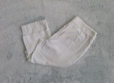 """Beverly Drive Size 18W/M High-Rise White Stretch Trouser Ankle Pant 21.5"""" Inseam"""