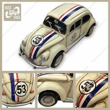 Tin plate Herbie model rally car ornament great gift for a VW fan
