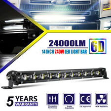 "6D 14"" LED Light Bar 240W Fog Driving Lamp 24000LM for Ford Pickup F150 UTV ATV"
