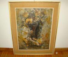 EMANUELE CAPPELLO-OLIO SU TELA-1969 FIRMATO-QUADRO-DIPINTO-OIL PAINTING-ARTE-ART