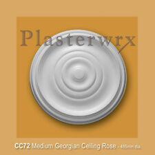 PLAIN PLASTER CEILING ROSE SMALL MEDIUM ROSE 485MM,  seconds quality FREE P&P