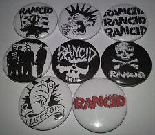 8 Rancid pin button badges punk rock Punk Hellcat Epitaph NoFx UK subs The Clash