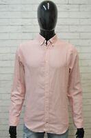 Camicia Uomo TOMMY HILFIGER Taglia M Maglia Polo Cotone Shirt Hemd Quadri Rosa