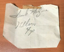 Nelson Nellie Fox Signed Autographed Paper With Frank Malzone