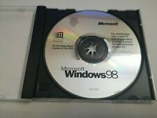 Microsoft Windows 98 Operating System Original CD English Language