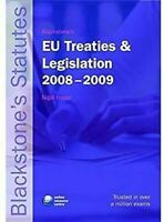 Ue Tratados y Legislation 2008-2009 por Foster, Nigel