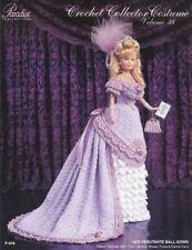 1876 Debutante Ball Gown for Barbie Paradise #38 Crochet PATTERN (NO DOLL) NEW