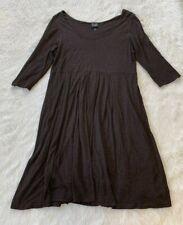 Eileen Fisher Chestnut Brown Pleated Dress Size Medium