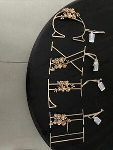 Anthropologie Gold Letters Decoration