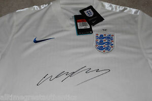 WAYNE ROONEY SIGNED AUTHENTIC ENGLAND WORLD CUP JERSEY w/COA UNITED KINGDOM