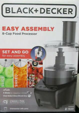 BLACK+DECKER Easy Assembly 8-Cup Food Processor Black Home Kitchen Appliance