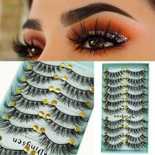 10 Pairs 3D False Eyelashes Natural Long Wispy Fluffy Handmade Lashes Decor Gift