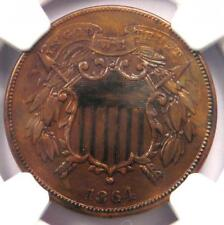 "1864 ""Small Motto"" Variety Two Cent Coin 2C - Certified NGC AU Details!"