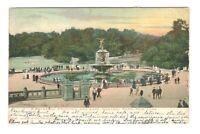 Bethesda Fountain And Lake Central Park New York Vintage Postcard AF223