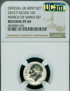 2015-W ROOSEVELT MARCH OF DIME NGC REVERSE PF-69 MAC UCAM & SPOTLESS .